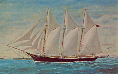 Southern New Jersey Schooner Painting by Harry R. Stites